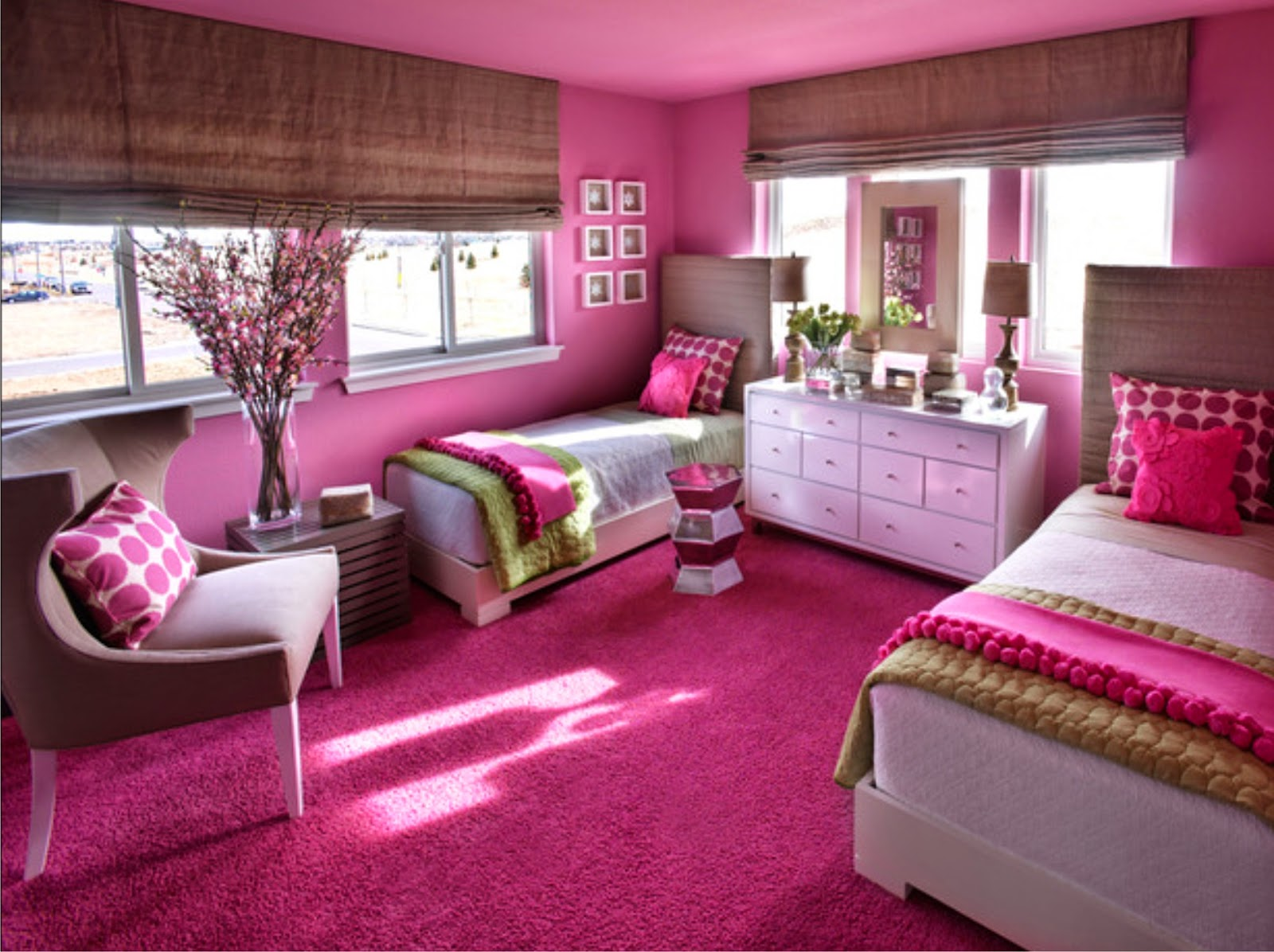 Model kamar tidur cewek warna ungu