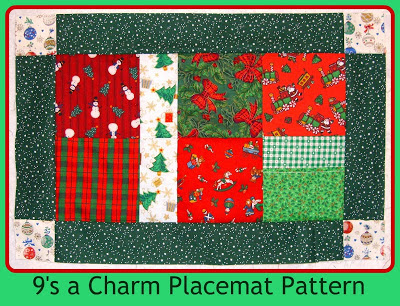 9s a charm placemat pattern pic