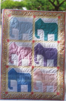 Quilting Blog - Cactus Needle Quilts, Fabric and More: Elephant Quilt Block