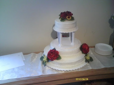 The 1st Wedding cake I made