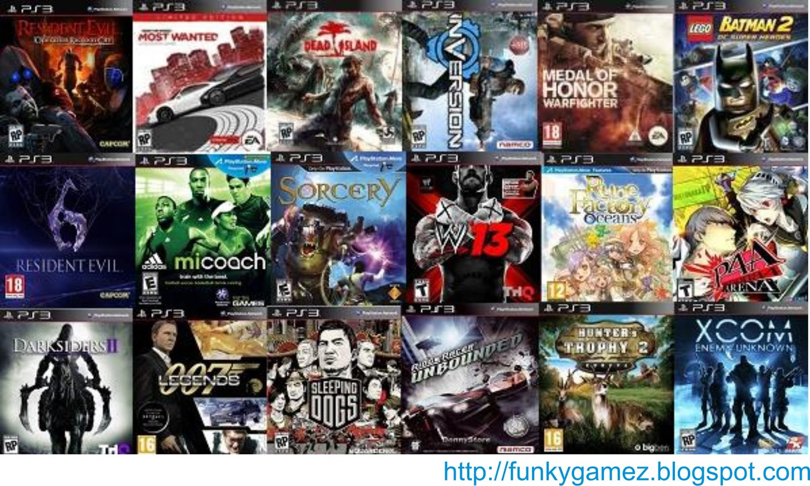 Ps3 Games 2012 List List fixed ps3 games work onPs3 Games List 2013