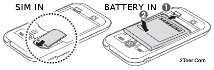 Install SIM Card to its Slot, Assemble Battery to its Compartment on