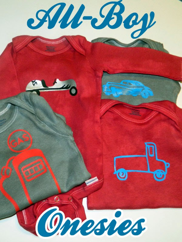 All Boy Onesies | Silhouette Heat Transfer | Dyed Onesies
