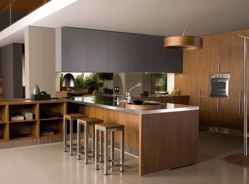 Mujeres chic vanguardia y cocinas modernas for Materiales de cocina