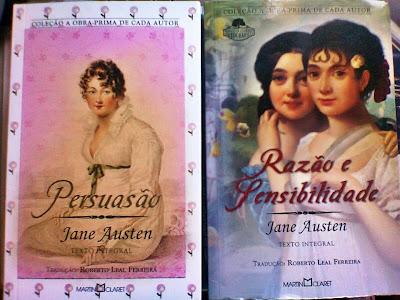 Jane Austen Persuasão; Razão e Sensibilidade da Martin Claret