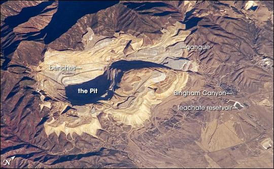 Bingham Canyon Copper Mine Us Compared To Washington Dc