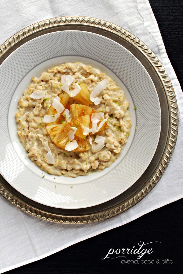 porridge avena coco y piña