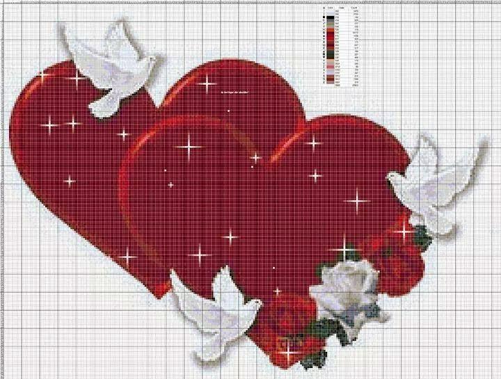 Punto Croce Per I Bambini La Mia Passione San Valentino