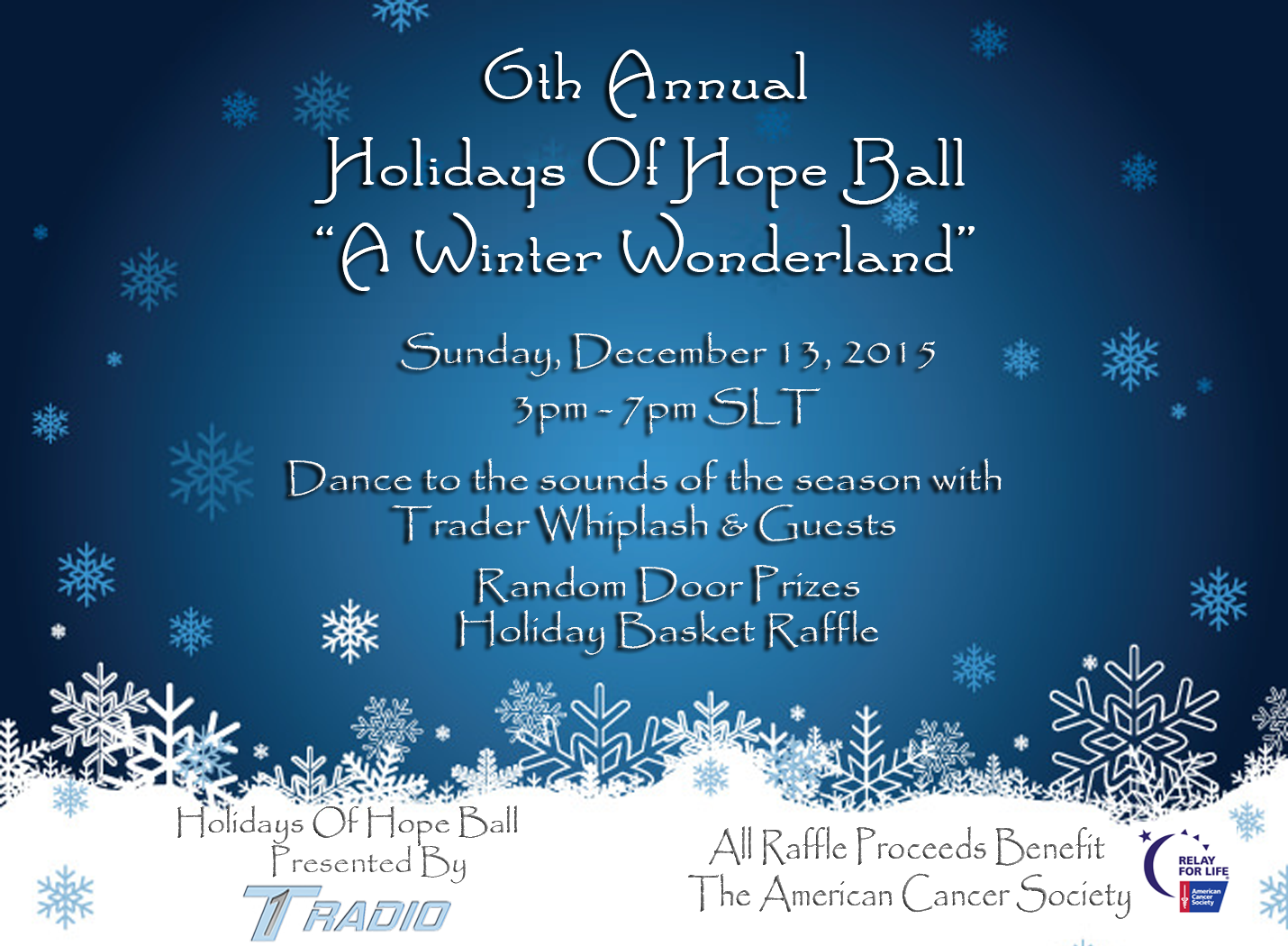 A winter wonderland the 2015 holidays of hope ball 6th annual gala the 6th annual holidays of hope ball will be held sunday dec 13th from 3 to 7 pm slt as part of the 2015 sl christmas expo this years theme will be a m4hsunfo