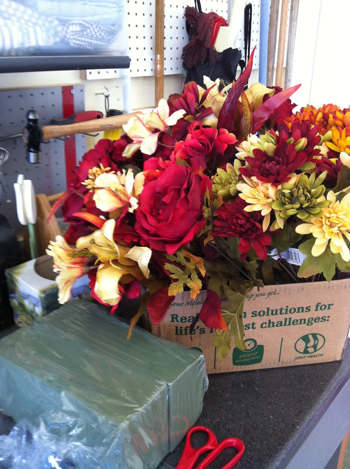 Buttons, Bows & Bling: Fall Floral Arrangements