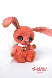 Авторский зайка, заяц тедди, зайчонок тедди, авторская игрушка, тедди кролик, розовый заяц, artist teddy rabbit, artist bunny ooak, artist toy, stuffed toys,artist bunny mohair, teddies with charm, NatalKa Creations, handmade rabbit, pink bunny, Künstlerteddy, Künstlerhase, Teddy Hase, Kaninchen rosa, Teddys