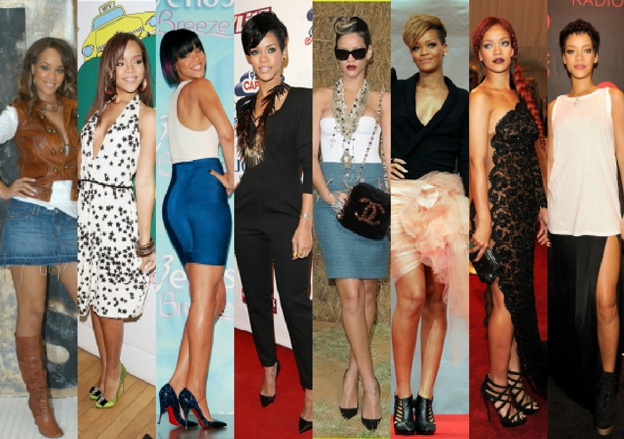 From 2005 To 2012 Rihanna 39 S Style Evolution On Campus