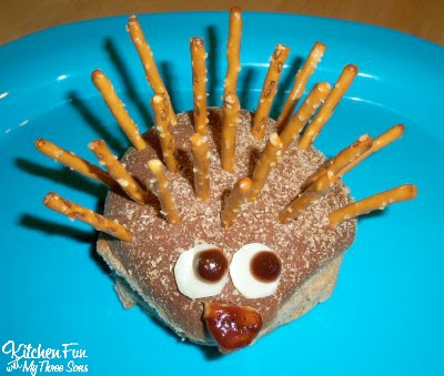 Porcupine Burger...so cute & easy to make from KitchenFunWithMy3Sons.com