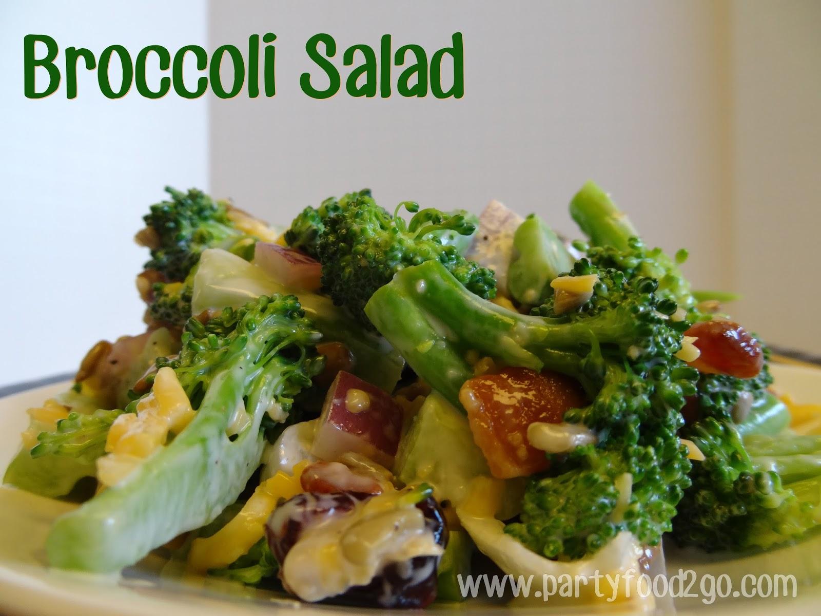 Unique Party Food to Go: Broccoli Salad