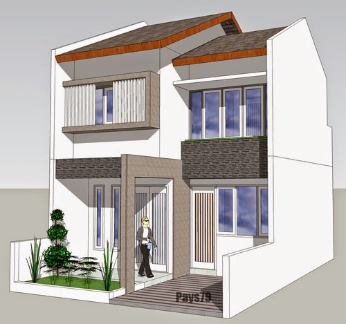 Simple Home Facade Design Two Floor With SketchUp