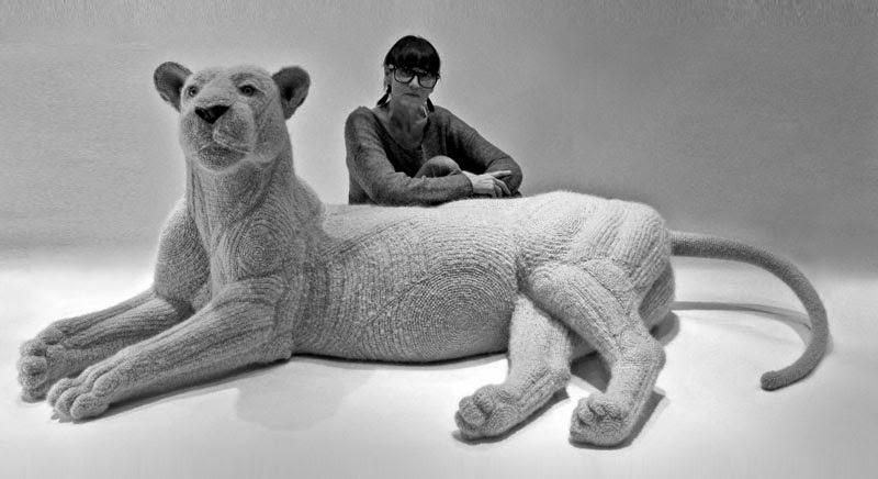 Crochetdermy by Shauna Richardson lioness