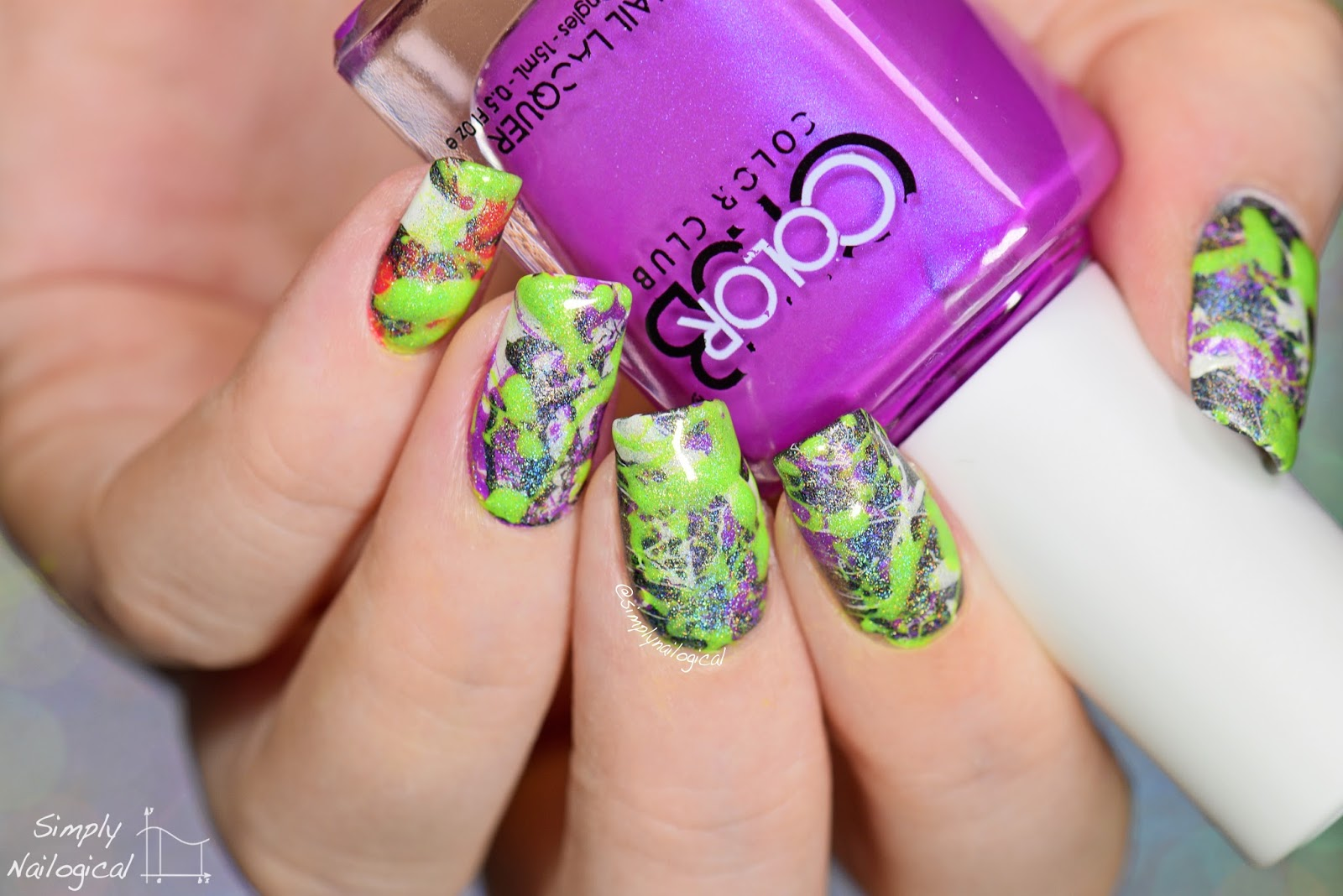 Simply Nailogical Messiest Nail Art Ever Splatter Nails