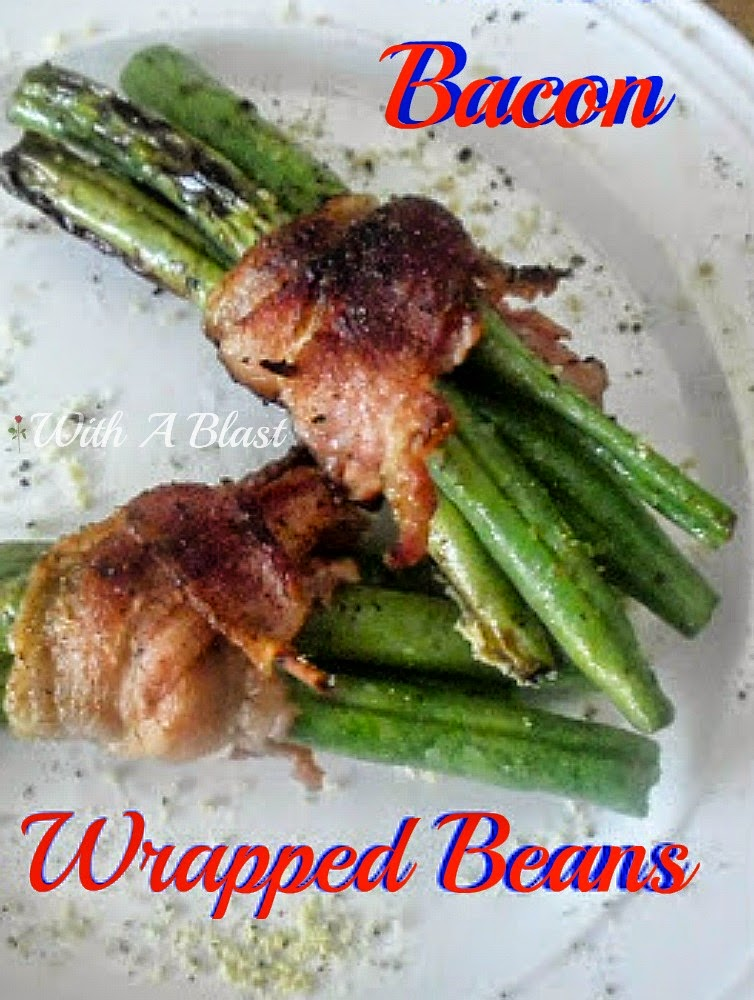 Bacon Wrapped Beans ~ Quick & easy side dish ~ Bacon makes everything better {especially for the kids} ! #SideDish #Beans