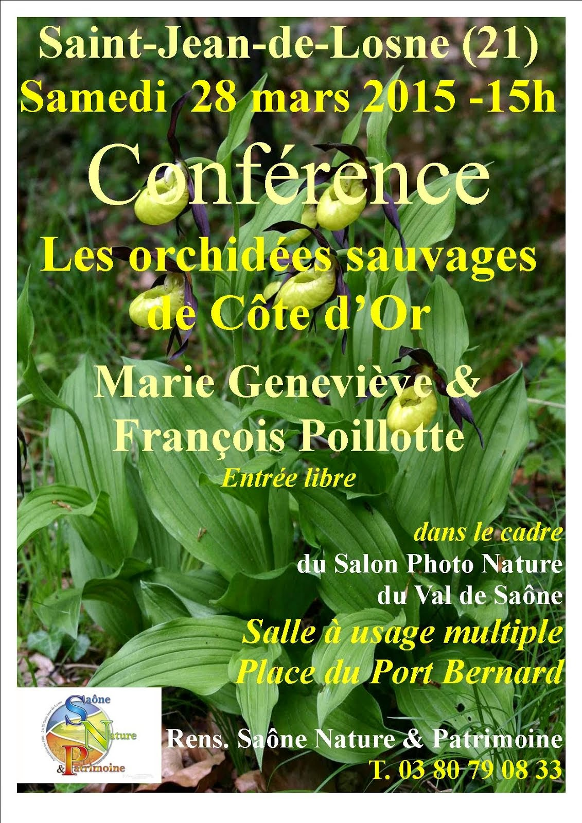 Conférence sur les Orchidées sauvages