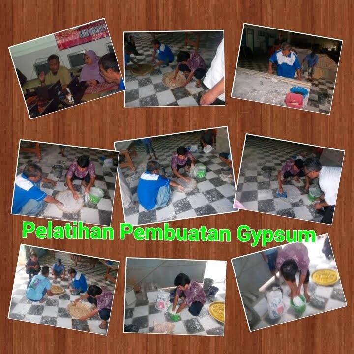 Pelatihan Pembuatan Gypsum