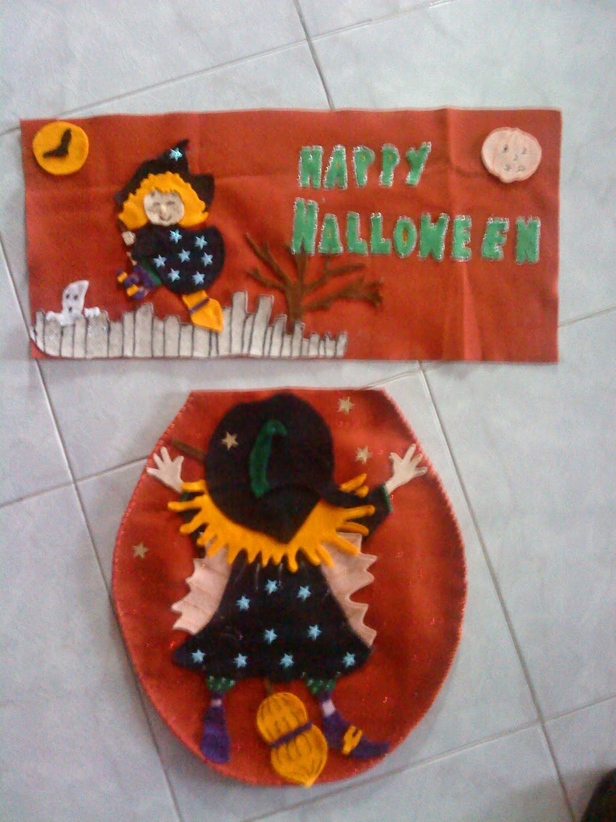 Juegos De Baño Halloween En Fieltro:eltallerdesandy: JUEGO DE BAÑO BRUJA ESTRELLADA