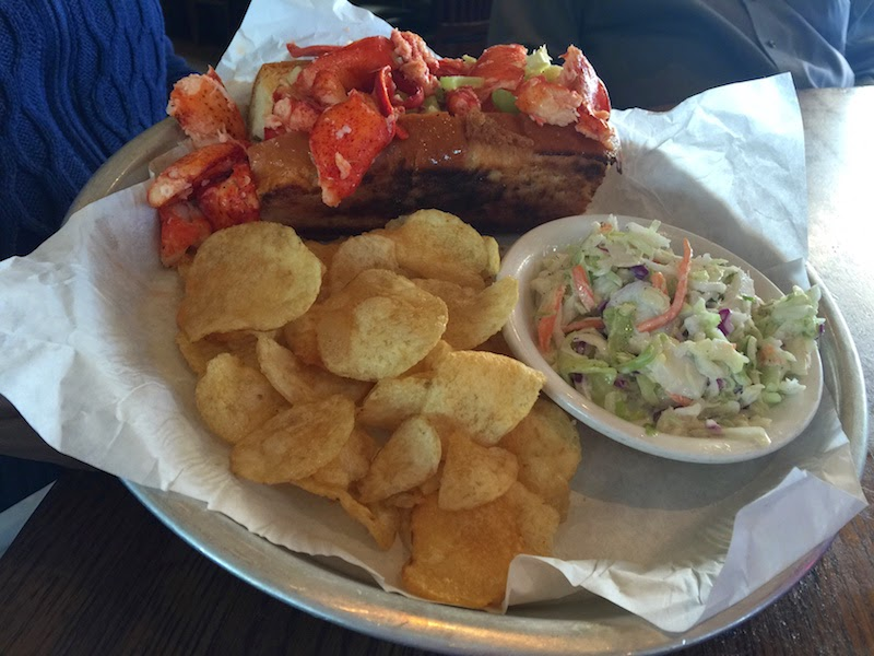 Lobster roll at Sam's Chowder House