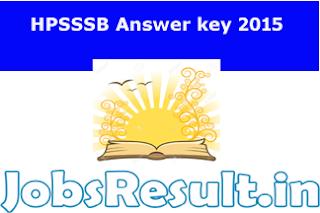 HPSSSB Answer Key 2015