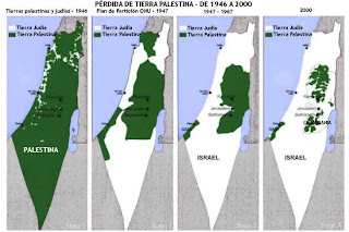 Pérdida de tierra palestina