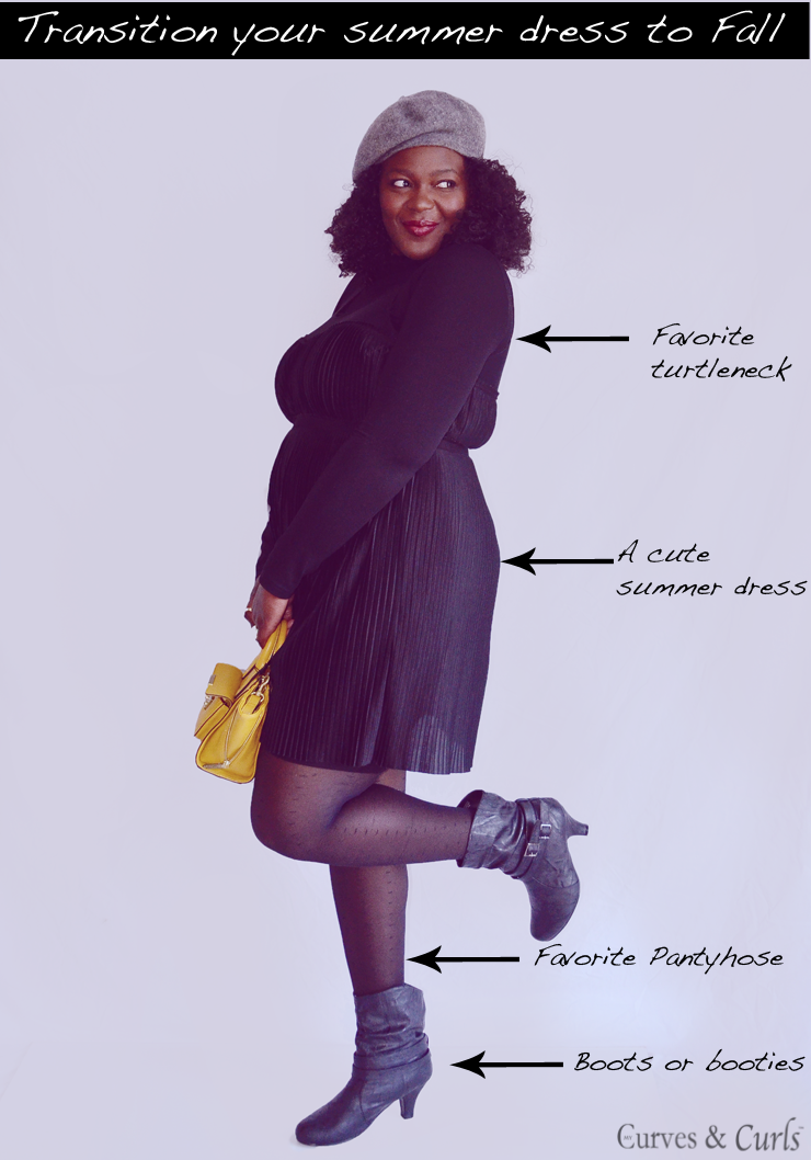 how to transition your clothes from Summer to fall #plussize #fashion #allblackoutfit