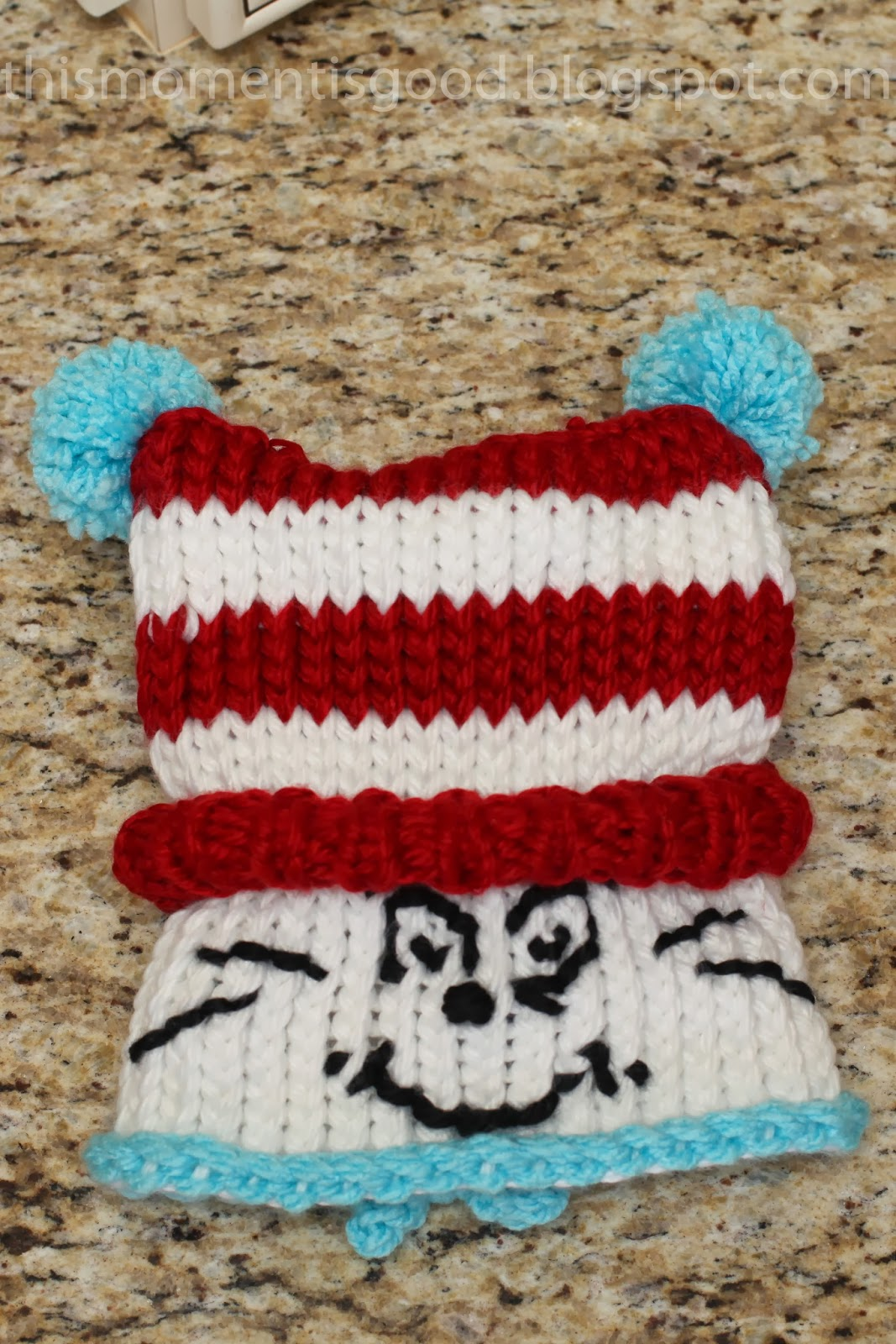 Loom Knitting by This Moment is Good!: LOOM KNIT DR SEUSS HAT