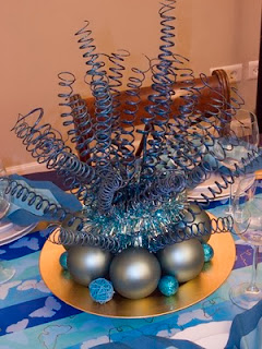 Centers Christmas table with Spheres, Part 3