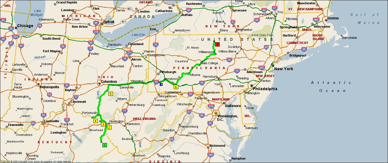 Map Of Ohio And Pennsylvania http://rovingreportsbydougp.blogspot.com/2011/07/2011-19-ohio-to-pennsylvania-and.html