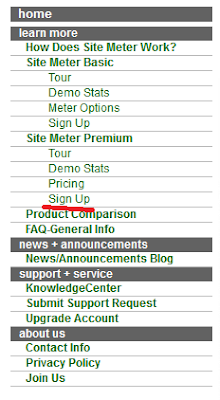 Cara Mendaftarkan Blog di Sitemeter dan pembuatan widget