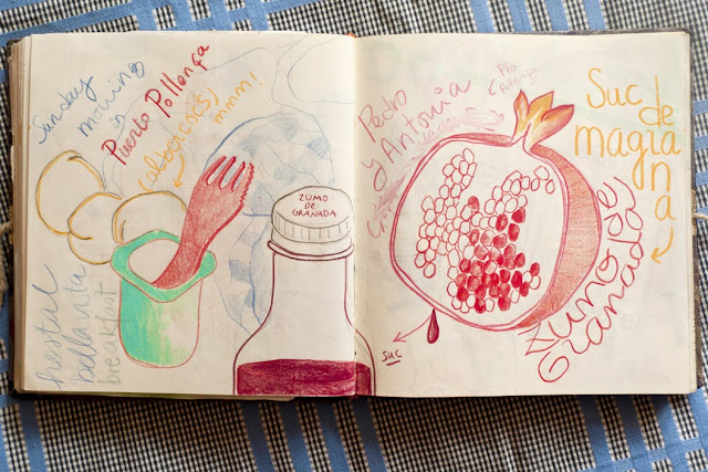 Ilustración granada de Anita Bonilla