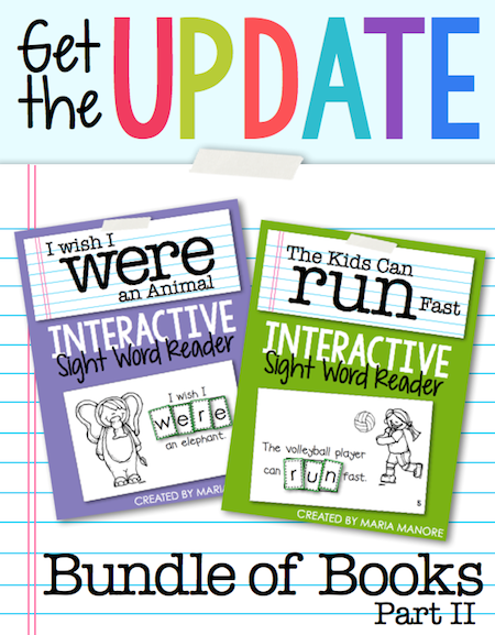 Interactive Sight Word Readers Bundle of Books, Part 2 from Maria Manore