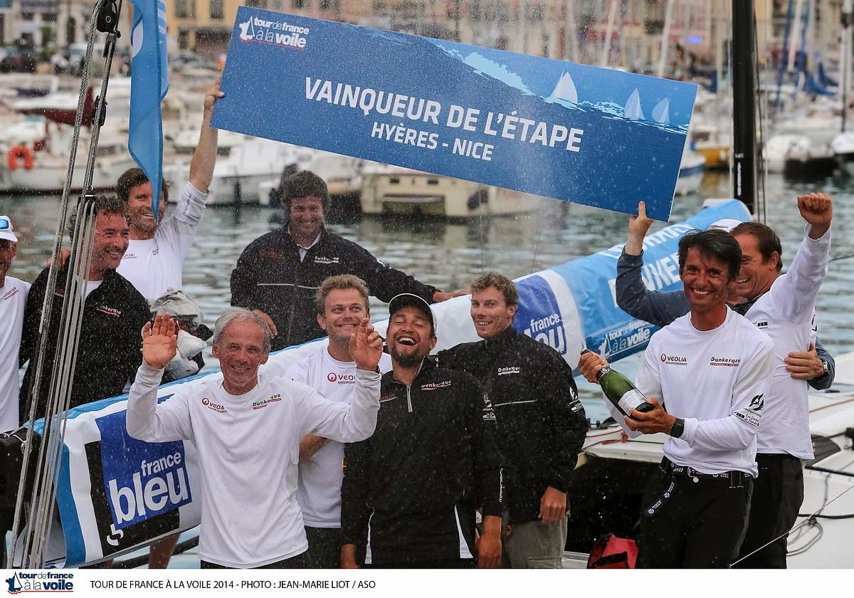 Courrier Dunkerque de Daniel Souben remporte le Tour Voile en M34, par JM Liot/ASO