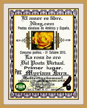 """""""ROSA DE ORO PRIMER PREMIO"""""""