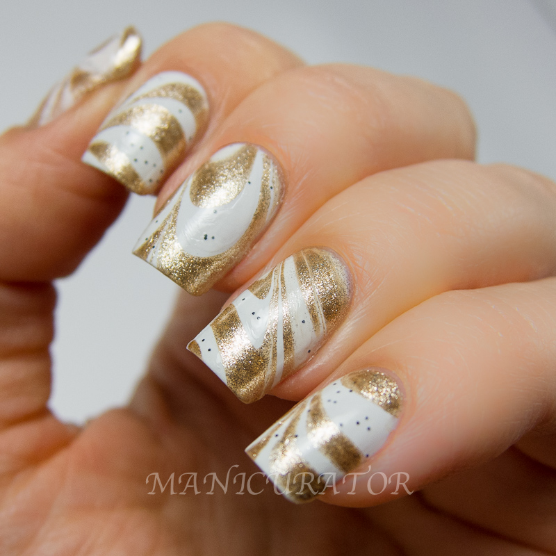 "Cream Nail Art: Manicurator: Magnum Ice Cream ""Good As Gold"" Nail Art"