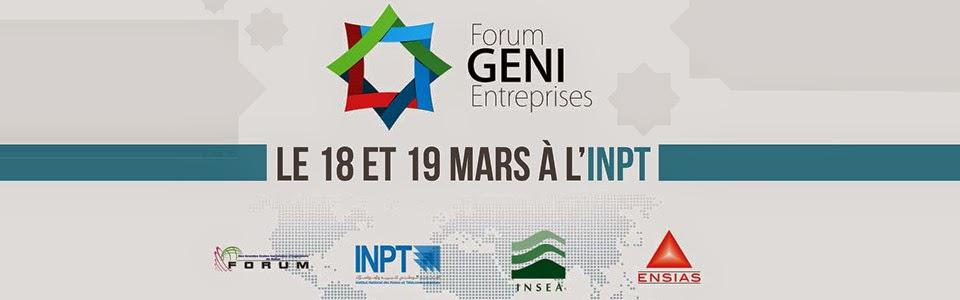 FORUM GENI-ENTREPRISES 2015 12ème édition