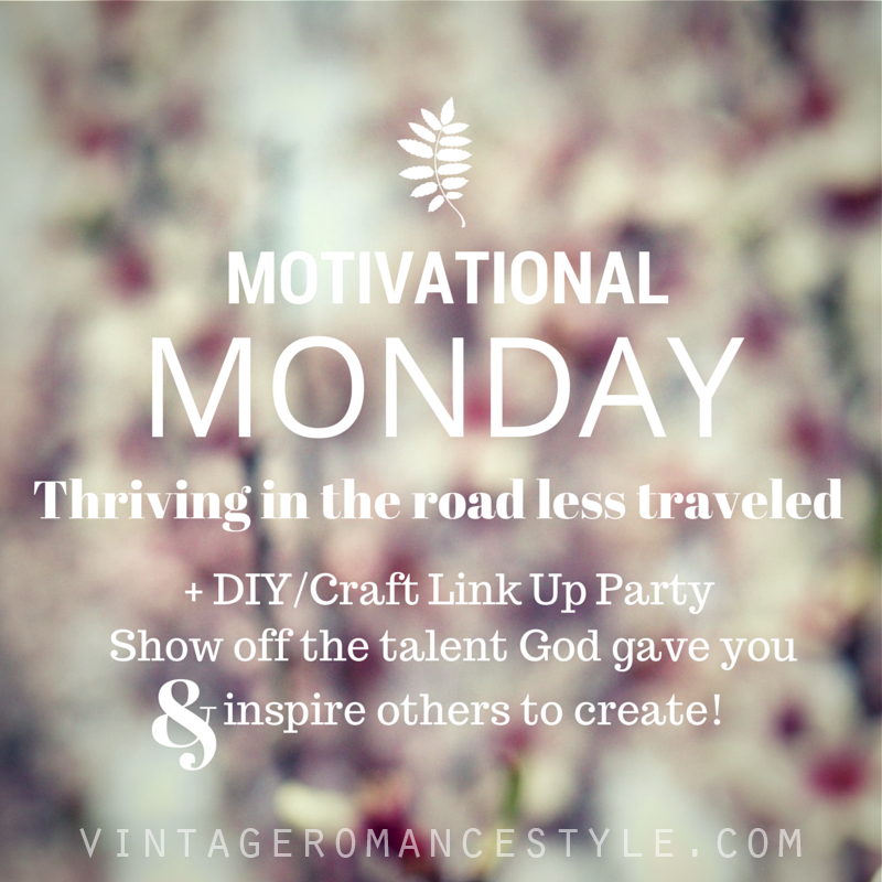 Motivational Monday Diy Craft Link Up Party 3 Vintage