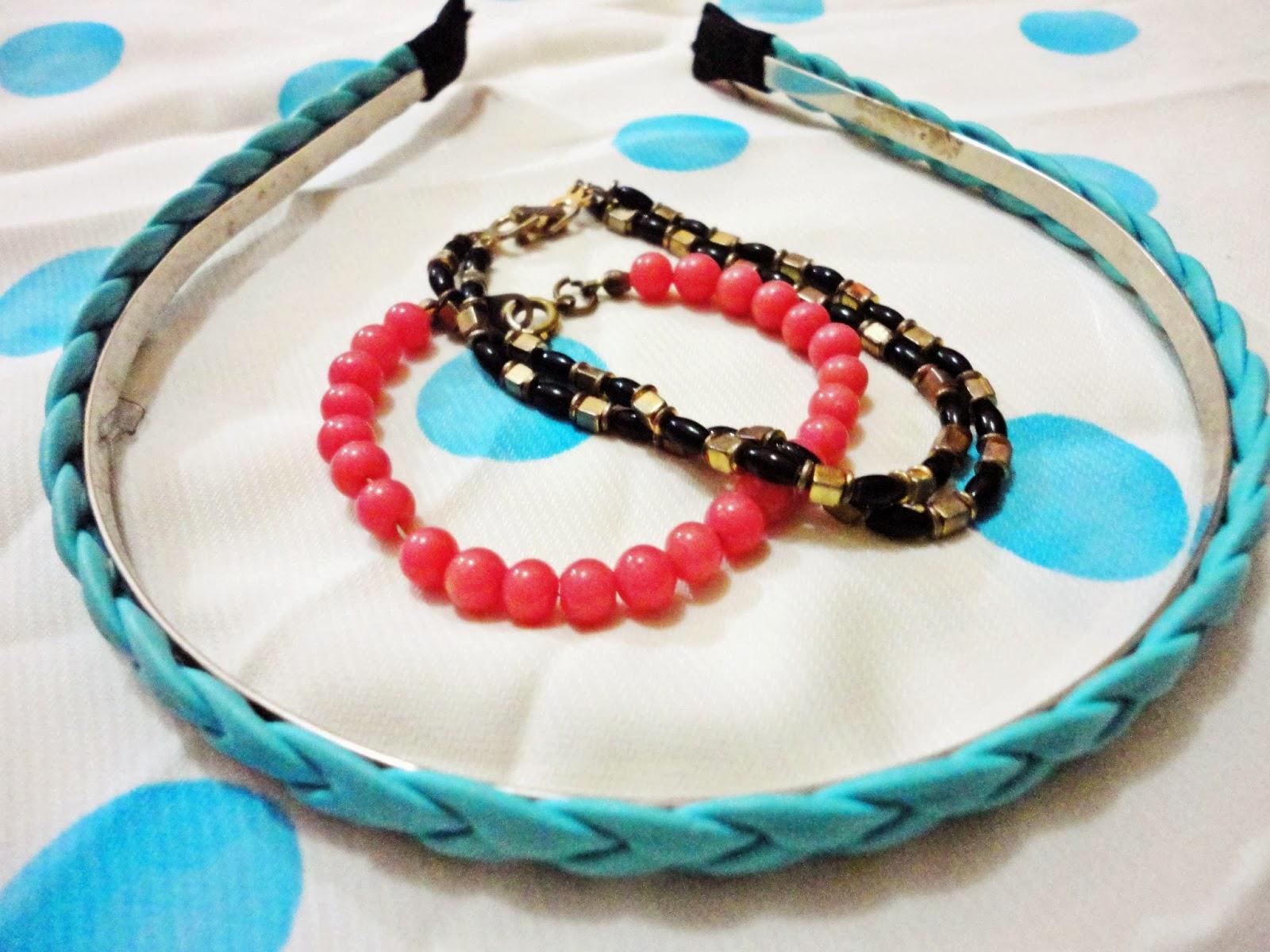 headband and bracelets