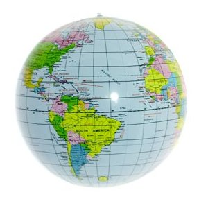 teach child geography with inflatable globe