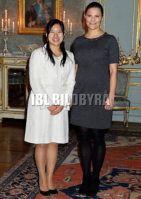 Princess Victoria Meet With Princess Ayako Of Takamado
