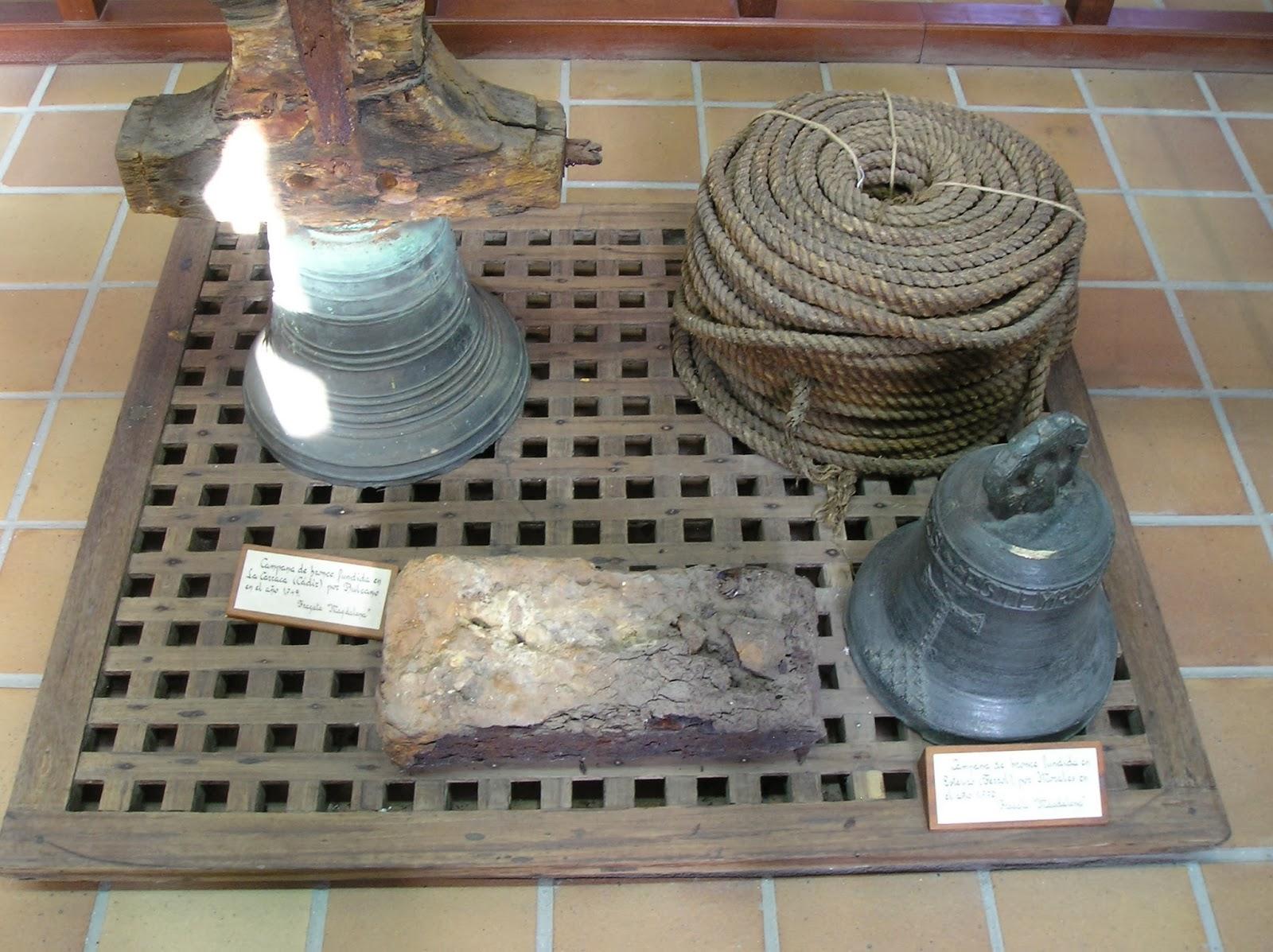Campanas de la Magdalena en el Museo Naval de Ferrol.