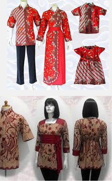 Model Baju Batik Wanita Sarimbit Keluarga Muslimah Gamis