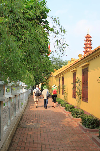 It's calming and breezing as I walked along the corridor from Buddhist temple and heading to the oldest pagoda at Tran Quoc Pagoda in Hanoi, Vietnam