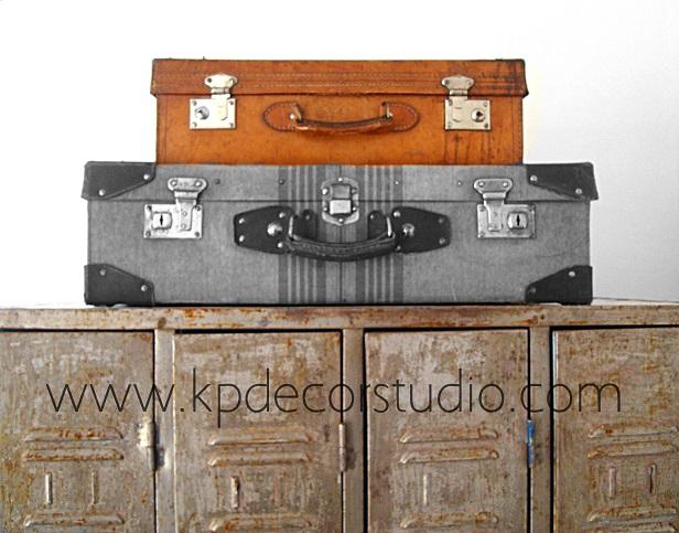 Venta de maletas antiguas en valencia. Tienda online de decoración. Objetos y artículos de los años 50.60.70.80.
