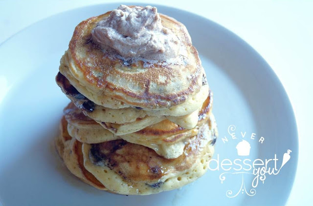 Never Dessert You Chocolate Chip Pancakes