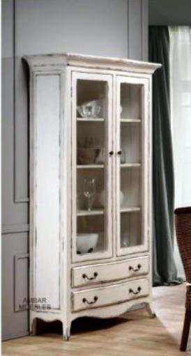 En busca de la vitrina vintage perfecta vintage home style - Vitrinas de salon ...