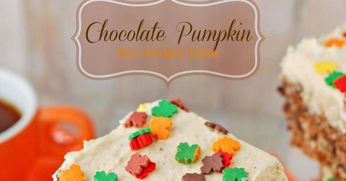 The sweet chick chocolate pumpkin rice krispie treats for Different ways to make rice krispie treats
